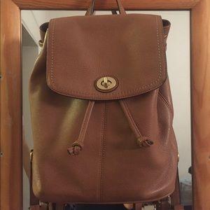 Coach   Tan Mini Backpack